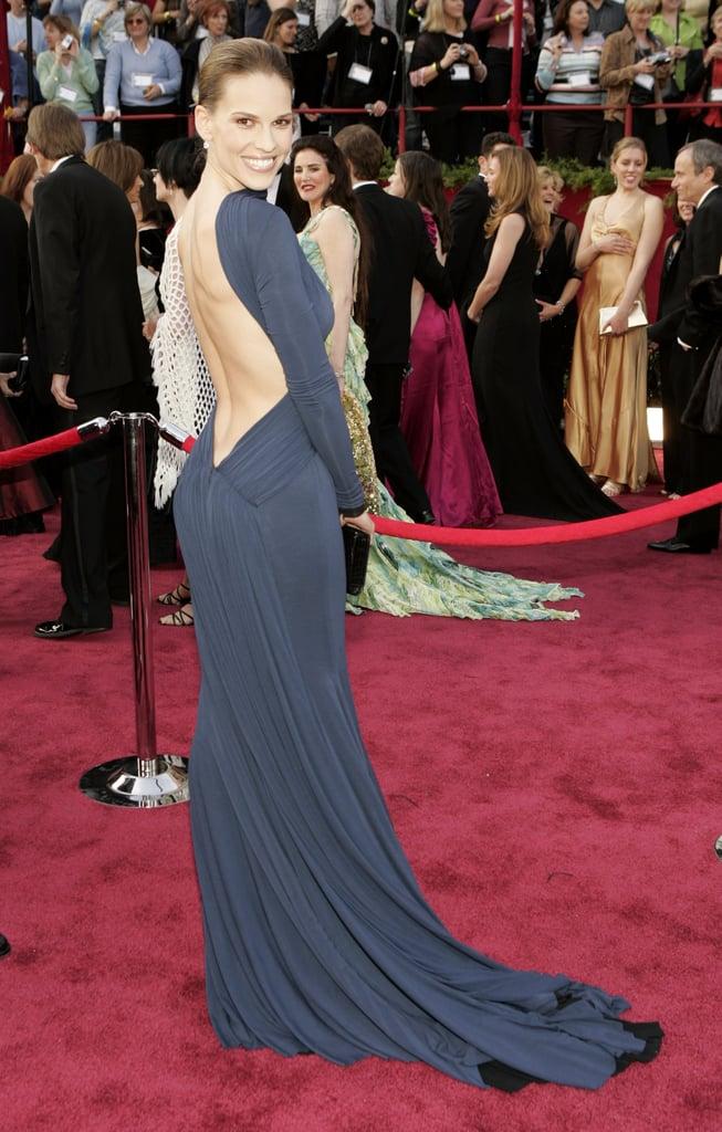 Hilary Swank at the 2005 Academy Awards