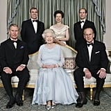 Queen Elizabeth II with her husband and children in 2007.