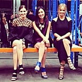 Kate Waterhouse, blogger Nicole Warne and Lara Bingle were front row at Christopher Esber. Source: Instagram user katewaterhouse7
