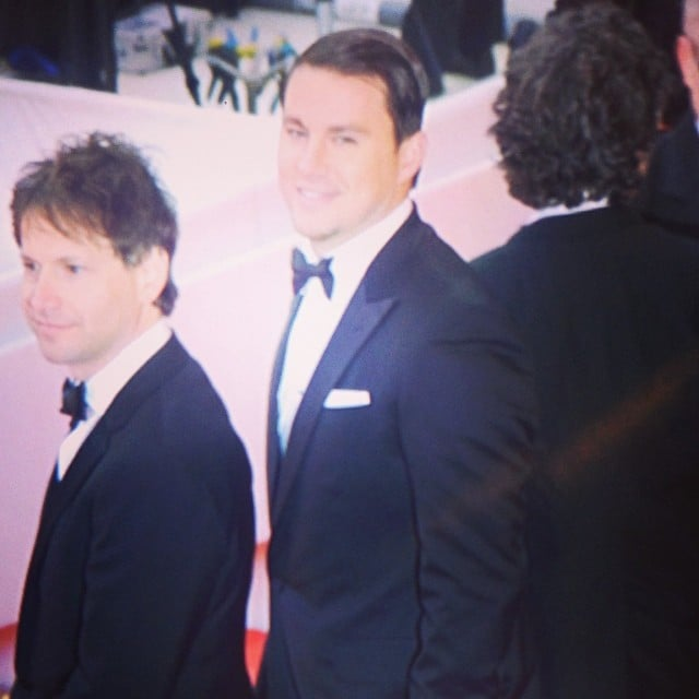 Channing Tatum flashed a smile toward our cameras as he debuted Foxcatcher at the festival. The film is already garnering the actor some early Oscar buzz.