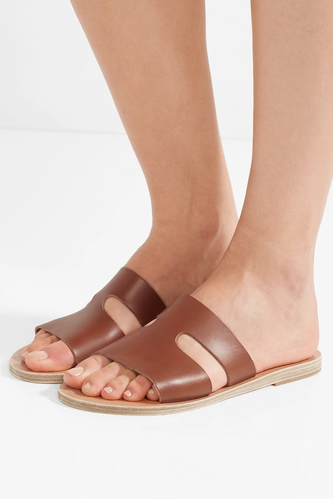 Ancient Greek Sandals Apteros Cutout Leather Slides