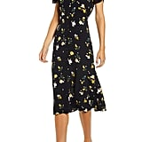 Chelsea28 Floral Ruched Sleeve Dress