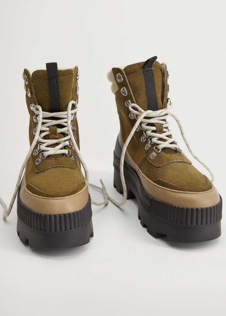Mango Contrasting Mountain Boots