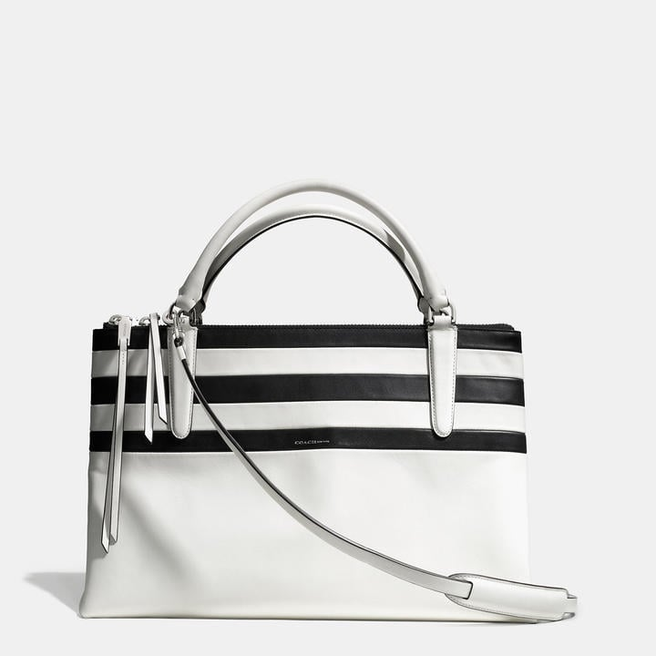 Coach The Borough Bag In Bar Stripe Leather ($658)