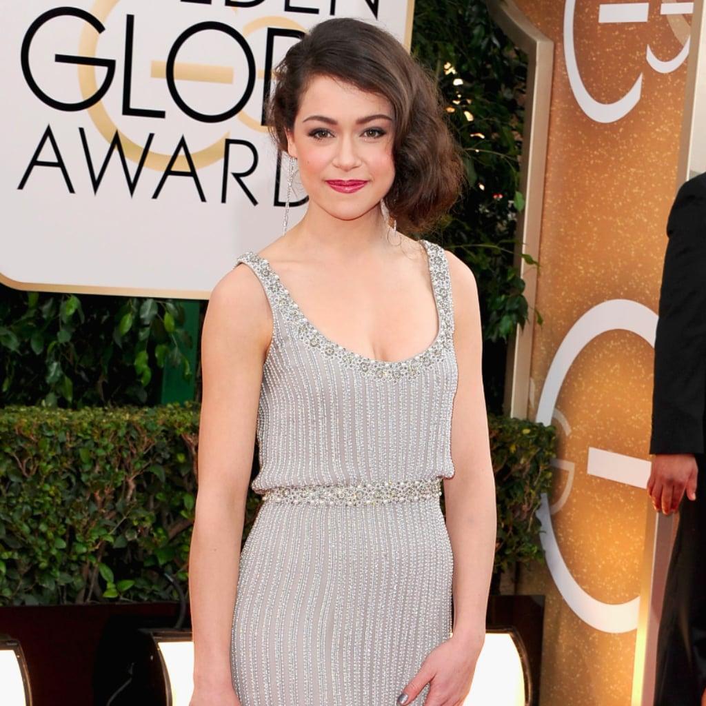 Tatiana Maslany at the Golden Globe Awards 2014