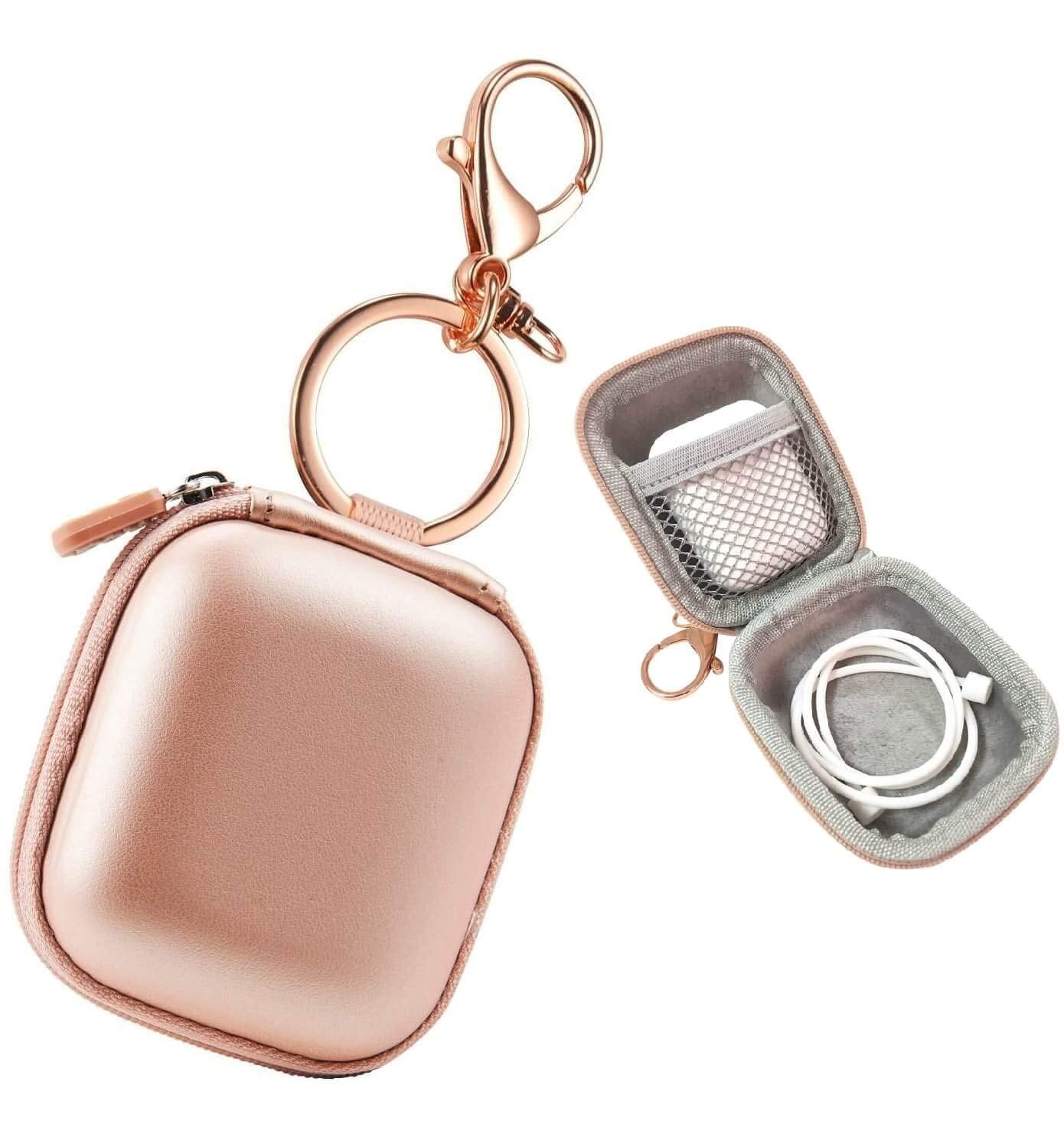 Case for AirPods Case with Keychain  Airpod Cover Airpods Pouch Airpod Holder Case Wireless Earphones Carrying AirPods case keyring