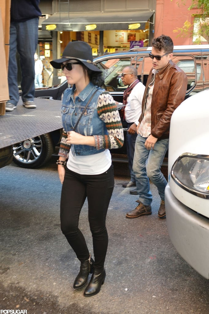 Katy Perry and John Mayer stepped out together for lunch in NYC.