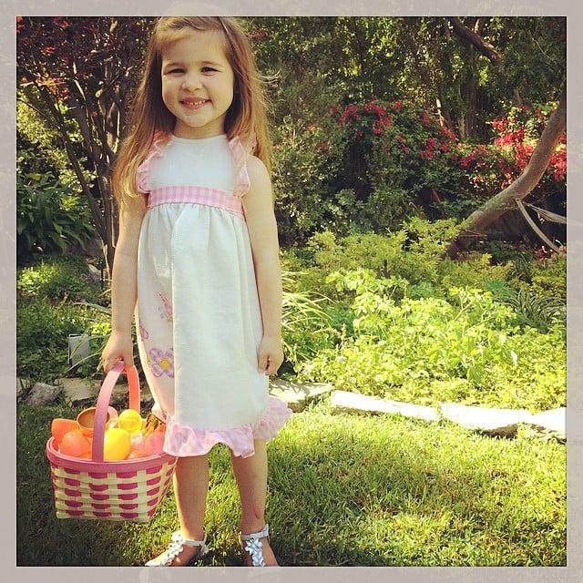 Harper Smith had quite a basket of loot after her Easter egg hunt. Source: Instagram user tathiessen