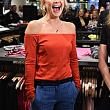 Oct. 16: Kate was all smiles at the opening of a Fabletics boutique at the Commons Mall in Bridgewater, NJ.