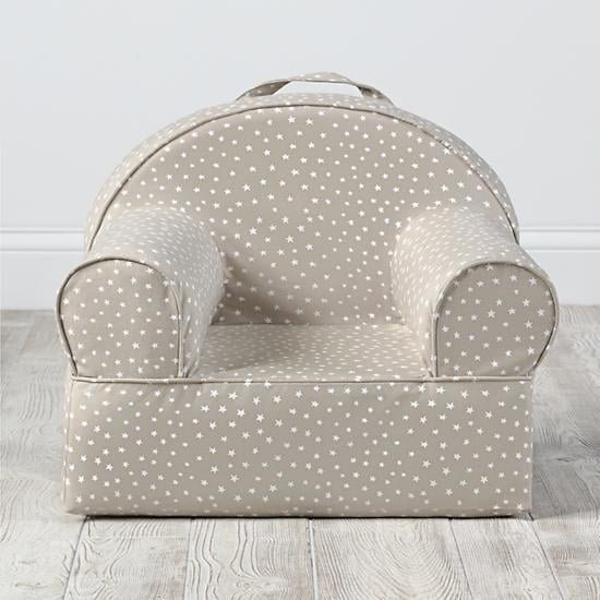 Personalized Khaki Star Mini Nod Chair