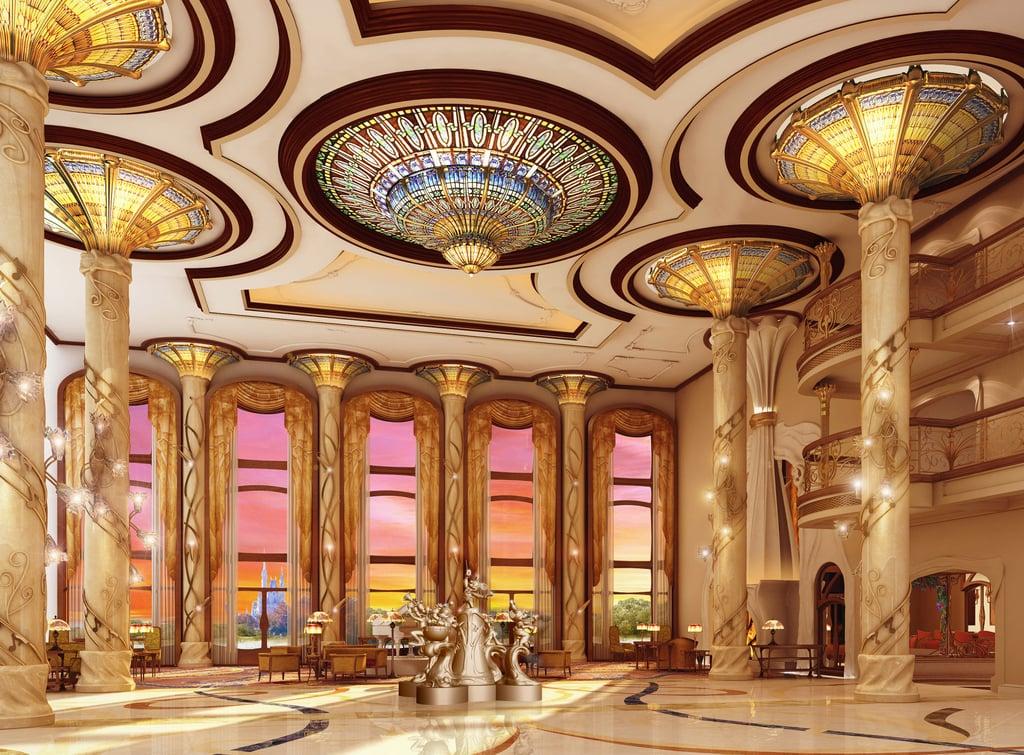 Shanghai Disneyland Hotel Lobby Rendering