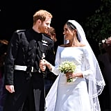 Prince Harry and Meghan Markle got married at St. George's Chapel in May 2018 during a star-studded ceremony. Not only was the royal family in attendance for the nuptials, including Harry's nephew and niece Prince George and Princess Charlotte, but a few of Meghan's former Suits costars were also guests.