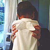 "Kendall Jenner shared a picture of ""little angel"" North in April 2014."