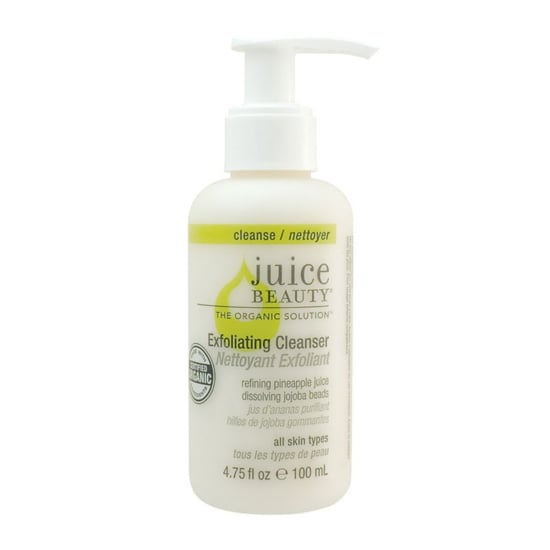 Blending white grape and pineapple juices for antioxidant protection, Juice Beauty Exfoliating Cleanser ($9) is also formulated with dissolving jojoba beads to gently exfoliate your skin for a smoother and clearer complexion.