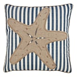 Madeline: Down Filled Striped Starfish Throw Pillow