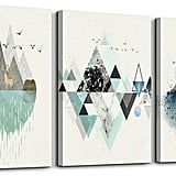 Abstract Mountain in Daytime Canvas Prints Wall Art