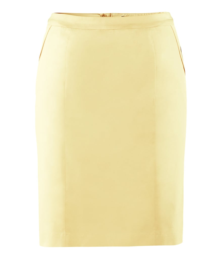 Add a dose of colour to your 9 to 5 with this lemon-yellow H&M pencil skirt (£14.99).