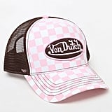 Von Dutch 236 Checker Snapback Trucker Hat