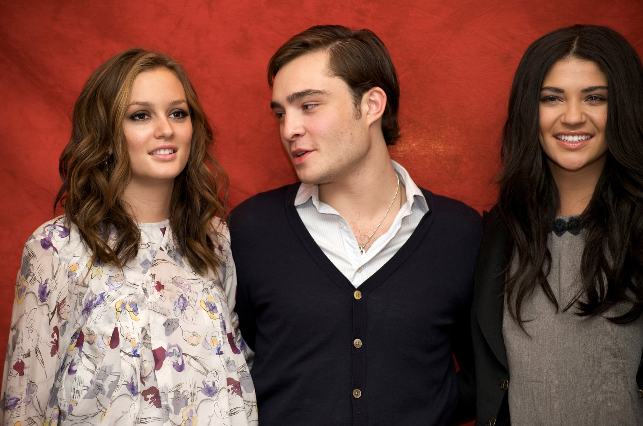leighton meester ed westwick and jessica szohr posed for