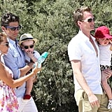 Neil Patrick Harris and David Burtka arrived in Saint-Tropez with Gideon Burtka-Harris and Harper Burtka-Harris.