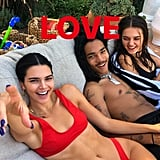 Kendall Jenner's Red Bikini on Labor Day