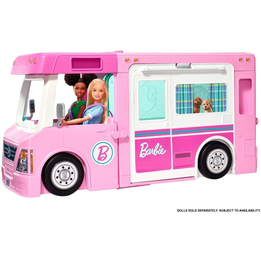 Barbie Estate 3-In-1 Dreamcamper Vehicle With Pool, Truck, Boat
