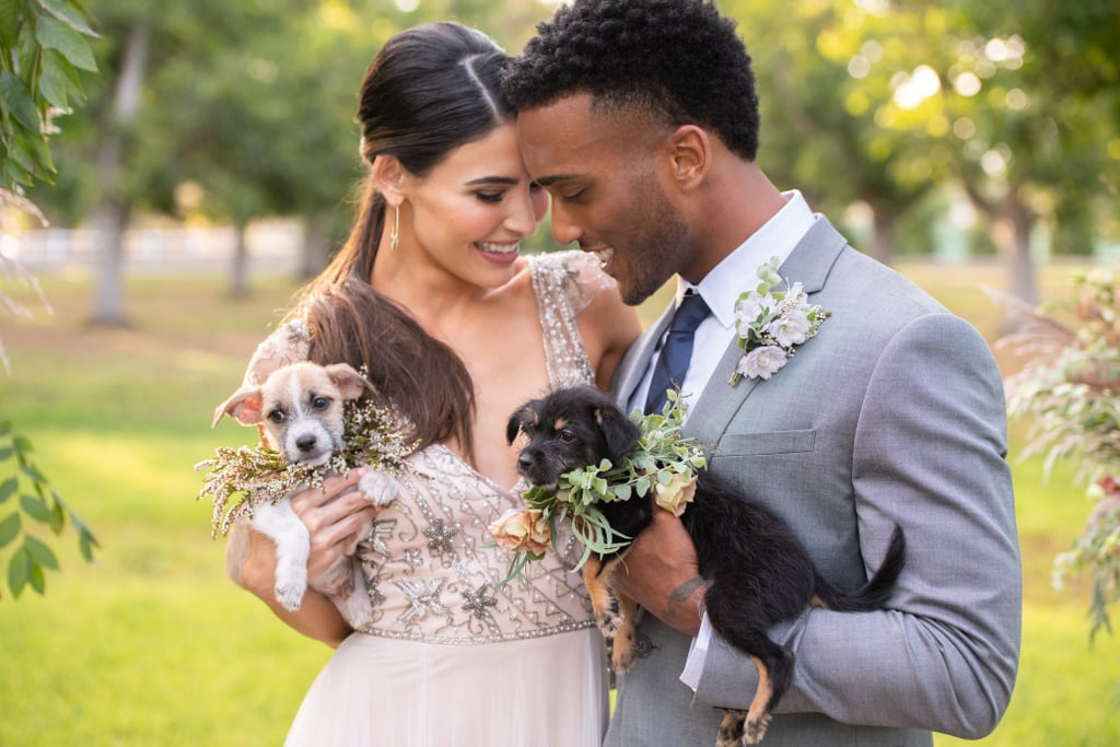 """Photographed just a couple miles outside of Los Angeles, CA, this beautifully styled wedding shoot had seven important guests in attendance: adorable (and adoptable!) shelter rescue dogs! The venue included everything from a charity registry to a """"Furry Fix"""" station where guests could play with adoptable dogs and hopefully even give them their forever homes. A day full of firsts and forevers, this wedding shoot shed light on the importance on all kinds of love, puppy love included. Elizabeth Brandon of WINK! Weddings had this to say about the special shoot: """"I'll confess, I'm a dog-lover. My favorite thing is helping couples include their pups in their celebration in new and unique ways. But I'm also all about rescuing the pups who need it most! My dear friend Adam Kent of Adam Kent Photography is the exact same way, and we had been racking our brains about how we might work our favorite rescue into our wedding lives. And with that, an idea was born! Why not craft a styled shoot to emphasize how couples can include rescue organizations in their big day beyond simply asking guests to make donations?"""" Paw Works, the animal organization that provided this shoot with the pups, has saved over 4,000 animals from kill shelters all over parts of California, and those numbers keep climbing. Take a look at the beautiful shoot from our friends at Be Inspired ahead, and expect to see only the purest puppy dog eyes.      Related:                                                                                                           When This Couple Discovered Their Parents Shared the Same Anniversary, They Followed Suit!"""