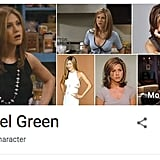Rachel Green Friends Google Easter Egg