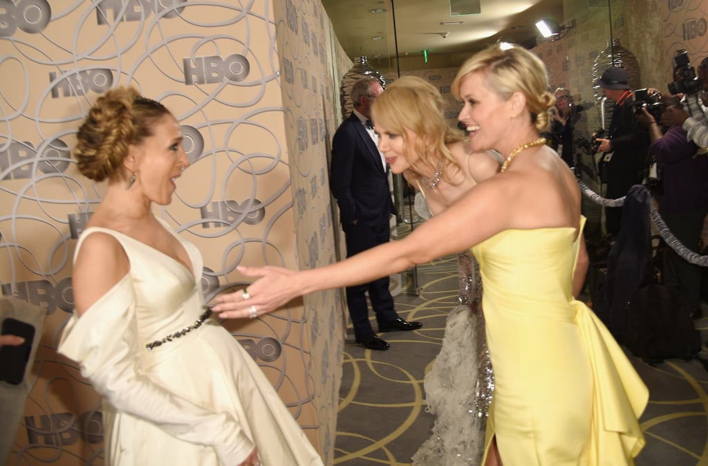 Sarah Jessica Parker, Nicole Kidman, and Reese Witherspoon all shared a laugh at the HBO afterparty in 2017.