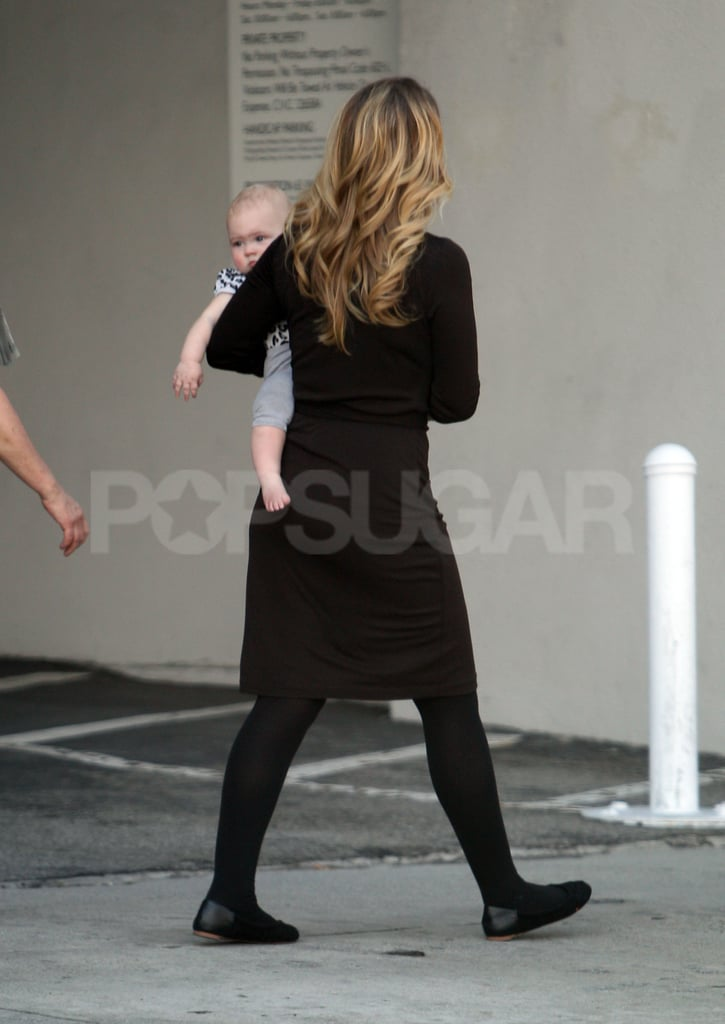 Christina Applegate walked with her baby in LA.