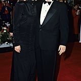Julia's outfit was jet black and Victorian-inspired at the 1991 Oscars, where she arrived on the red carpet with her boyfriend Kiefer Sutherland.