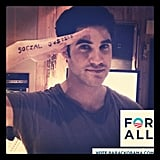 Darren Criss showed his support for President Obama. Source: Instagram user darrencriss