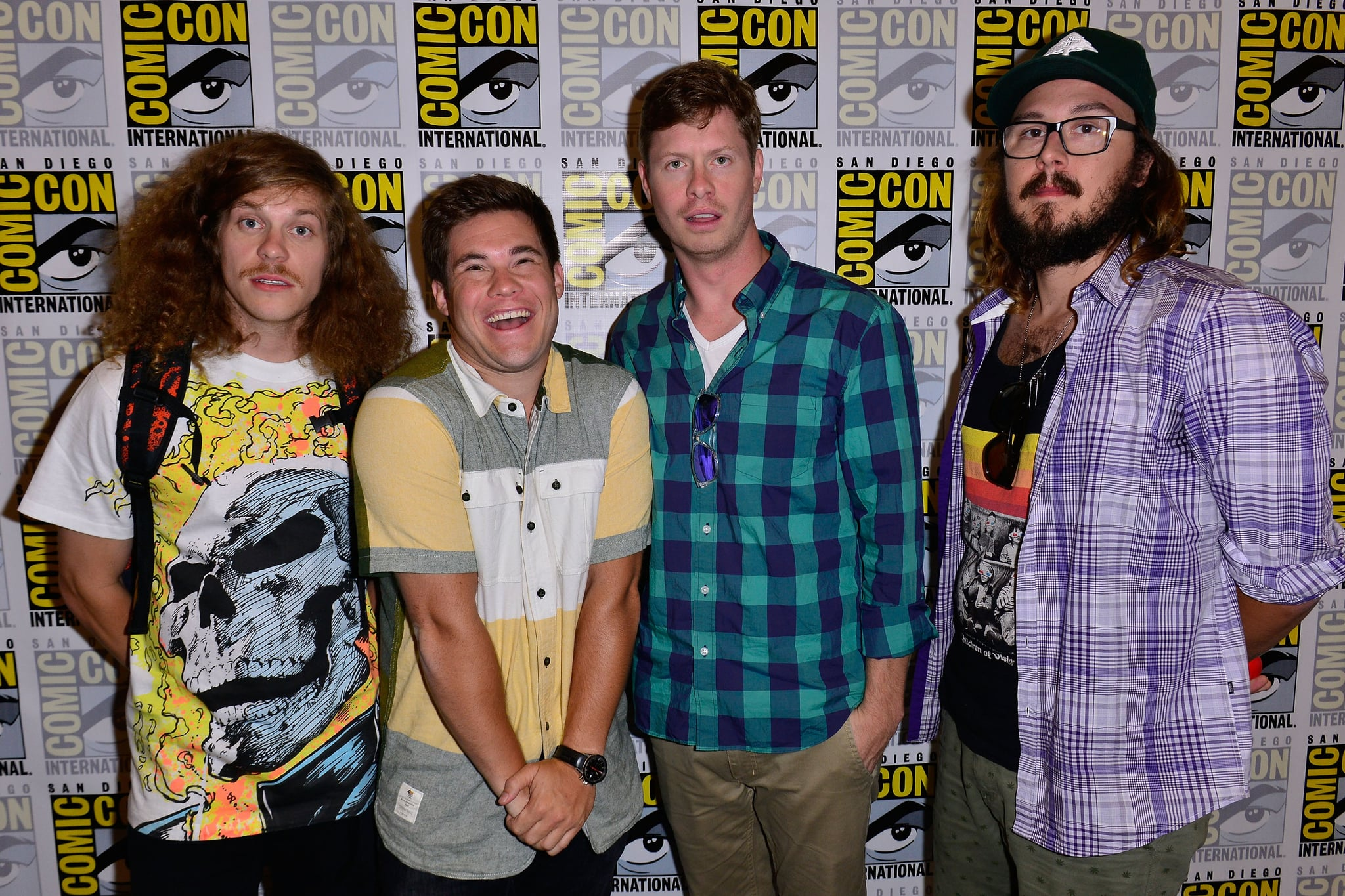 The cast of Comedy Central's Workaholics showed up for a press line in 2013.