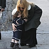 Rachel Zoe and Skyler Berman shared a hug.