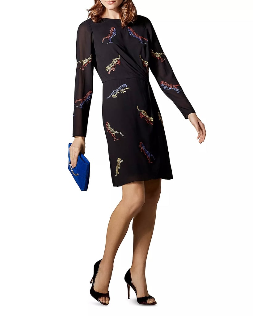 KAREN MILLEN Tiger Embroidered Dress Women