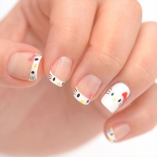 26 Impossible Japanese Nail Art Designs: Hello Kitty Nail Art Ideas