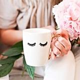 Eyelashes Gold Coffee Mug