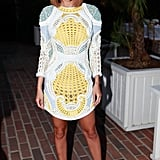 Nicole Richie wore Spring 2013 Balmain at the Balmain dinner in Los Angeles.