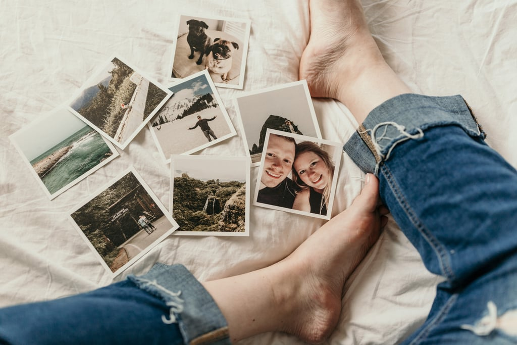 Make a collage of old photographs or magazine cutouts.