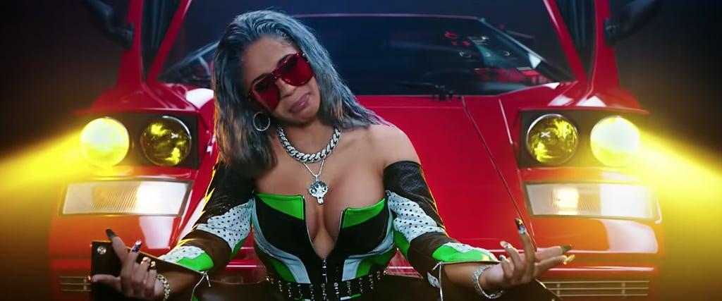 "Cardi B's Nails in ""MotorSport"""