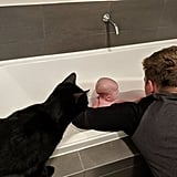 Drake even gives his sister a hand during bath time!