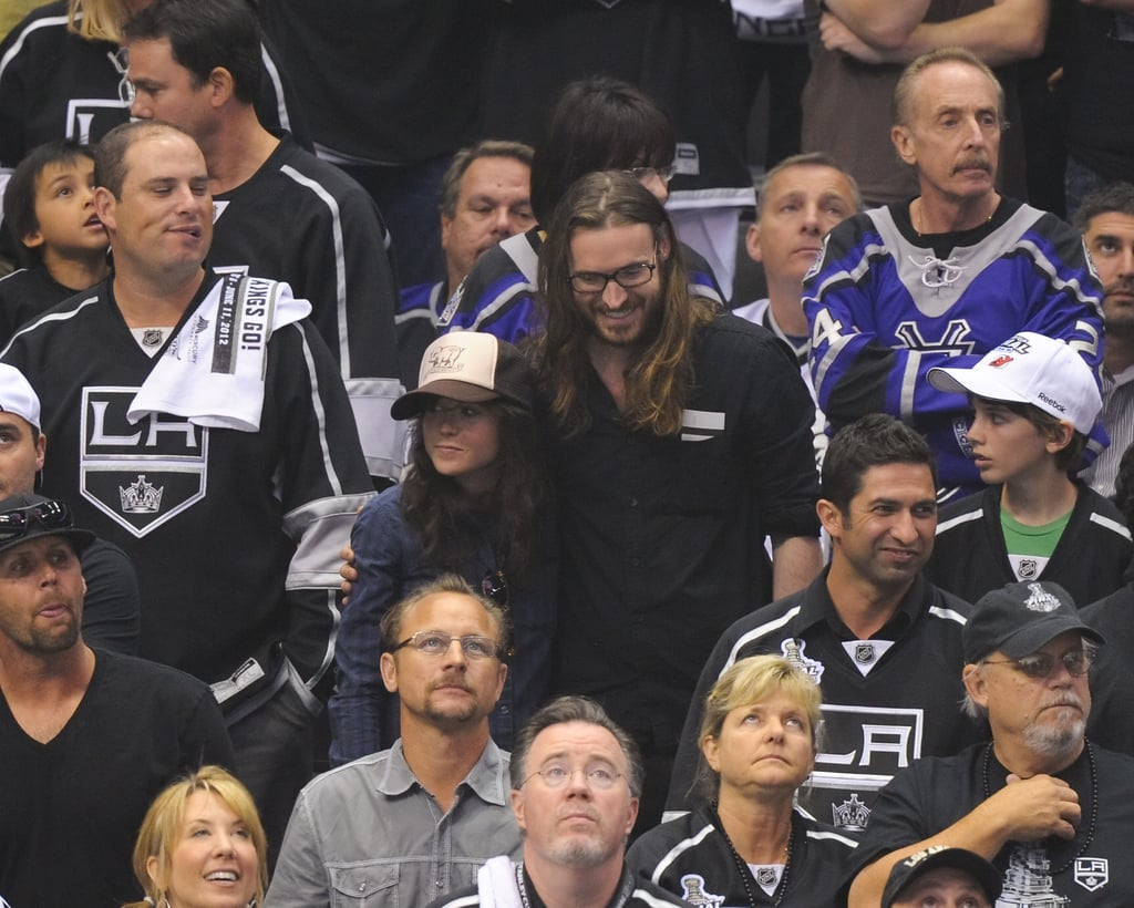 Ellen Page cheered for the LA Kings at the Stanley Cup final game.