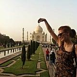 She Snaps Cute Touristy Photos