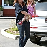 Jennifer Garner Treats Seraphina to a Sweet Stop