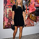 At the opening night of Nicolas Pol's After Modern Vermin Control at Cardi Black Box in Milan, Anna Dello Russo took an understated turn in a collared LBD.