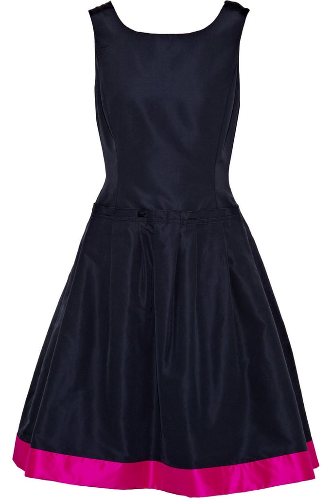 Oscar de la Renta for The Outnet folded silk-twill dress ($995)