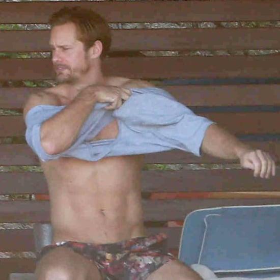 Alexander Skarsgard Shirtless in Mexico November 2015