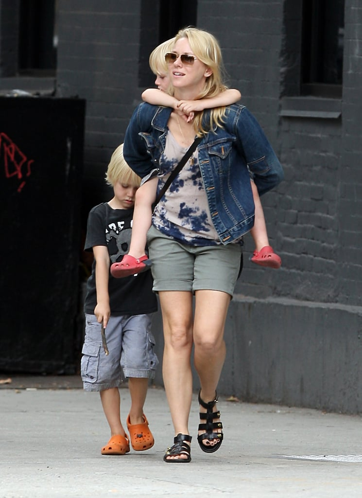 Naomi Watts hung out with her boys Sasha and Kai for a walk in NYC on Monday.