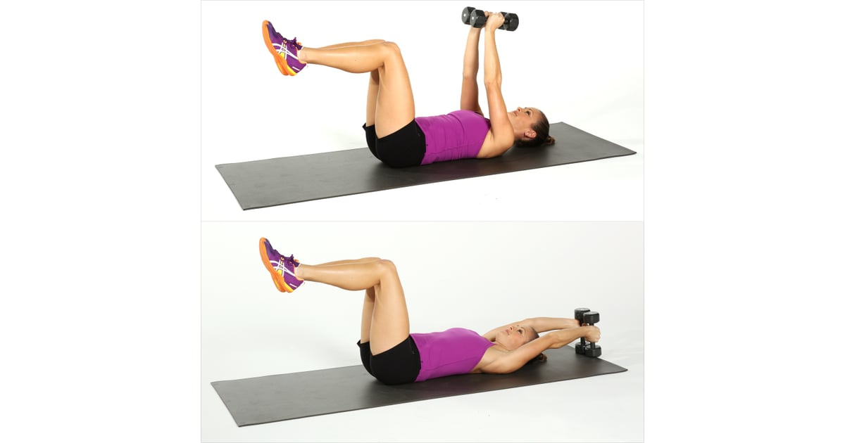 Lying Overhead Reach Best Ab Exercises Using Weights