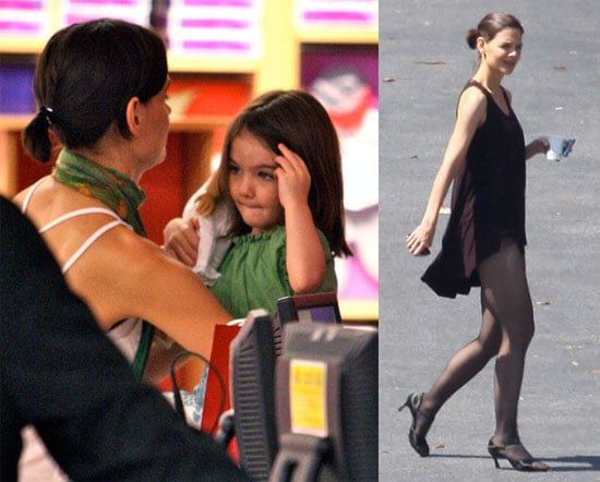 Photos of Katie Holmes and Suri Cruise at American Girl Place in LA